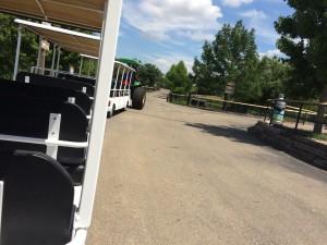 Tram ride, Rolling Hills Zoo. Salina, KS.